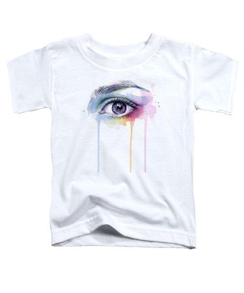Colorful Dripping Eye Toddler T-Shirt
