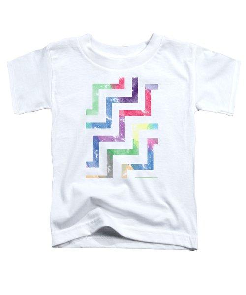 Colorful Geometric Patterns Vi Toddler T-Shirt by Amir Faysal