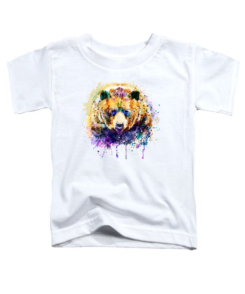 Colorful Grizzly Bear Toddler T-Shirt