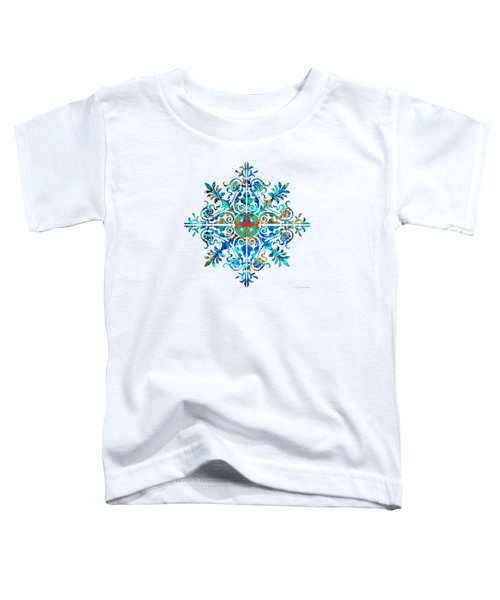 Colorful Pattern Art - Color Fusion Design 5 By Sharon Cummings Toddler T-Shirt