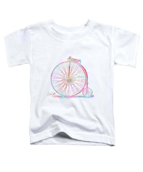 Colorful Penny-farthing 1867 High Wheeler Bicycle Toddler T-Shirt