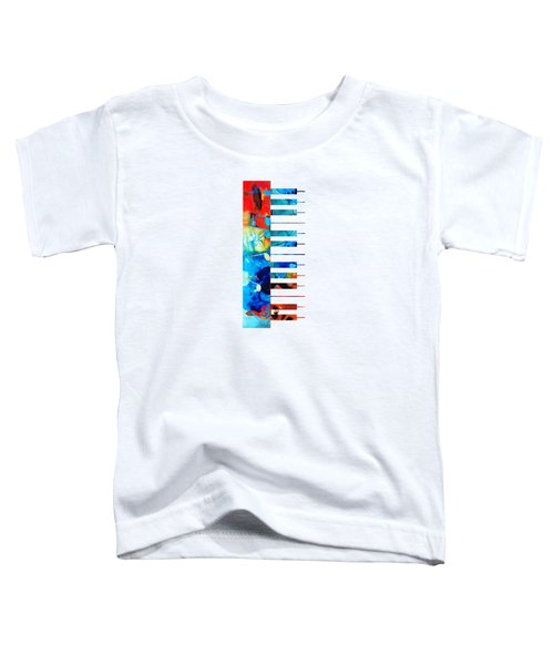 Colorful Piano Art By Sharon Cummings Toddler T-Shirt