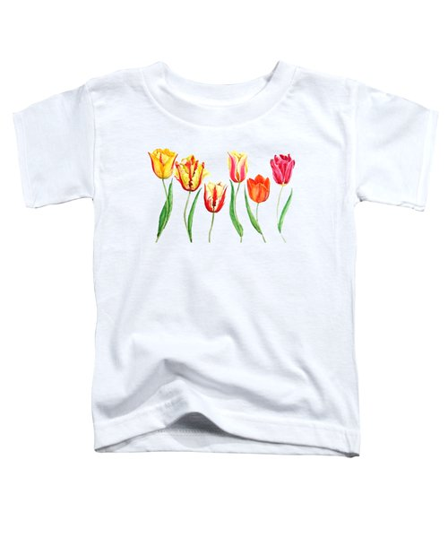 Colorful Tulips Toddler T-Shirt