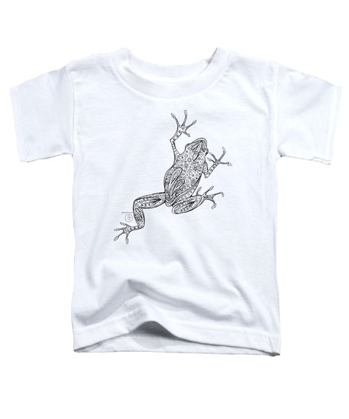 Coloring Page With Beautiful Frog Drawing By Megan Duncanson Toddler T-Shirt by Megan Duncanson