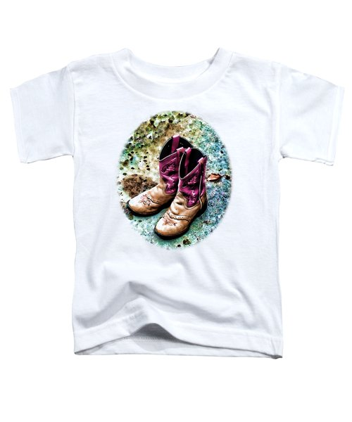 Colors Of A Cowgirl Oval White Toddler T-Shirt