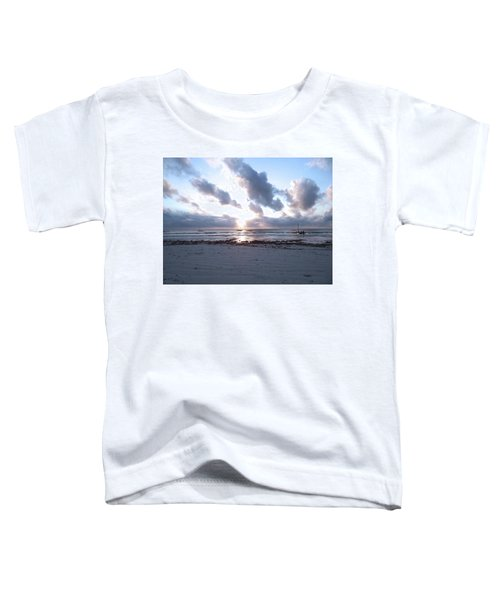 Coloured Sky - Sun Rays And Wooden Dhows Toddler T-Shirt