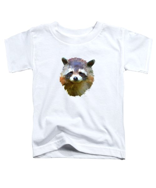 Colourful Raccoon Toddler T-Shirt by Bamalam  Photography