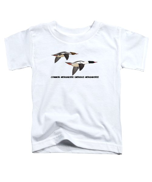Common Mergansers  Isolated 2014-1 Toddler T-Shirt