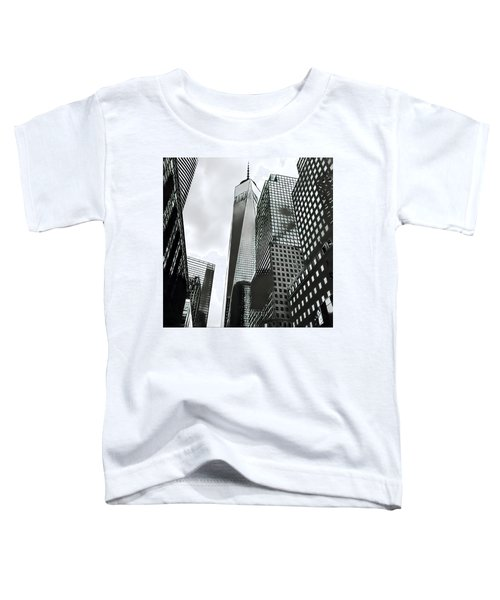 Commuters' View Of 1 World Trade Center Toddler T-Shirt