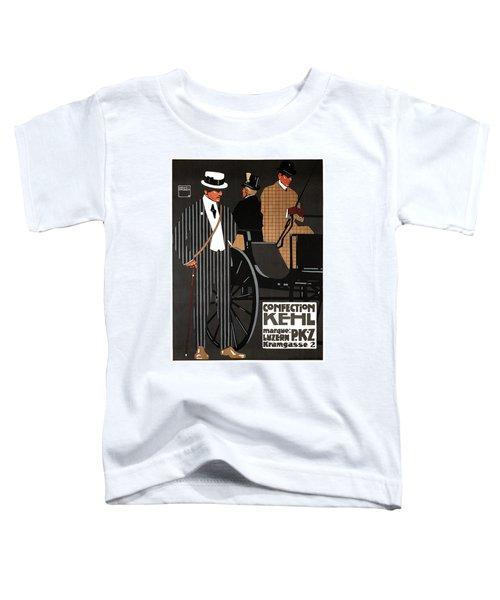 Confection Kehl - Luzern, Switzerland- Men's Clothing - Fashion - Vintage Advertising Poster Toddler T-Shirt