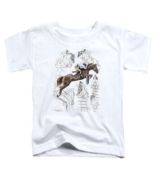 Contemplating Flight - Horse Jumper Print Color Tinted Toddler T-Shirt