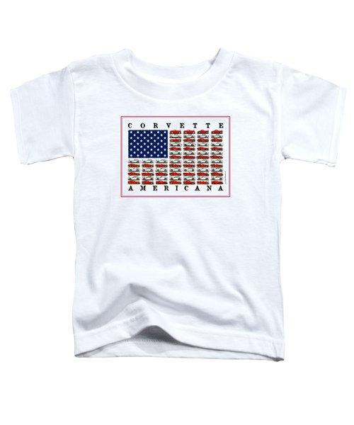 Corvette Americana Toddler T-Shirt