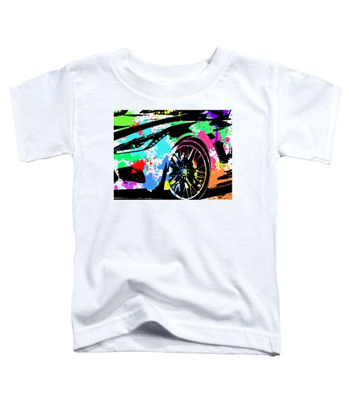 Corvette Pop Art 3 Toddler T-Shirt