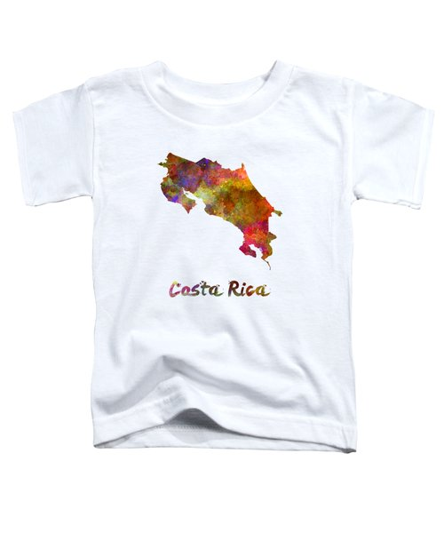Costa Rica In Watercolor Toddler T-Shirt