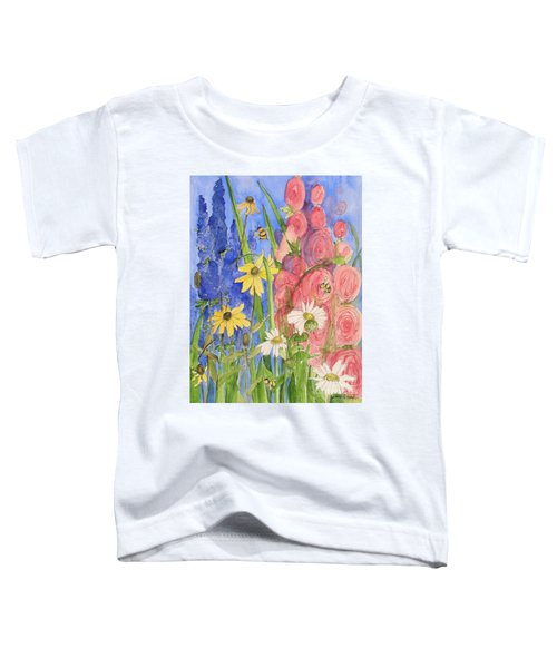 Cottage Garden Daisies And Blue Skies Toddler T-Shirt
