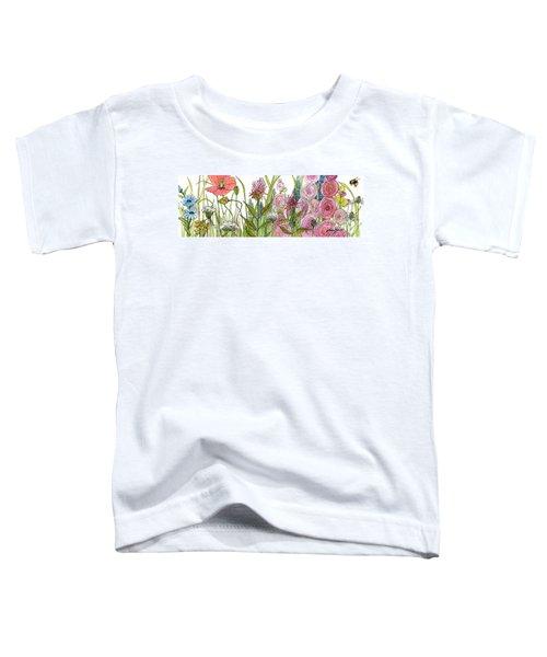 Cottage Hollyhock Garden Toddler T-Shirt