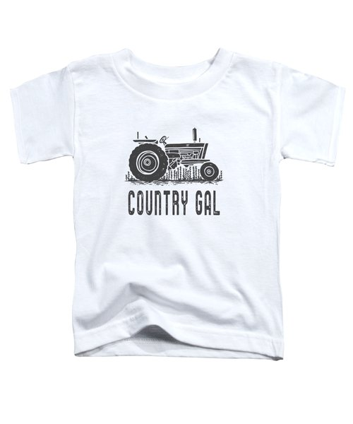 Country Gal Tractor Tee Toddler T-Shirt