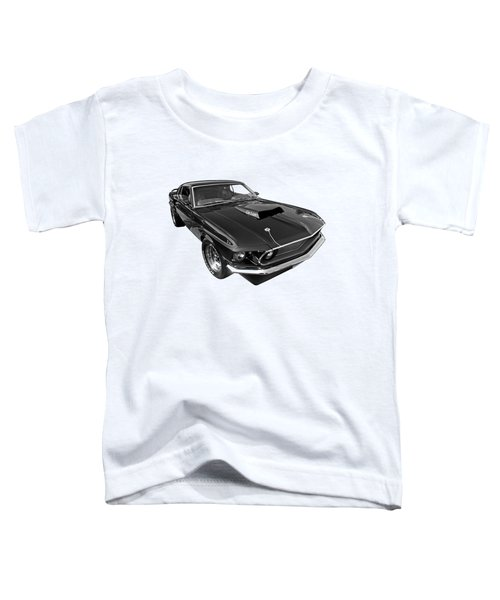 Coz I Can Black And White Toddler T-Shirt