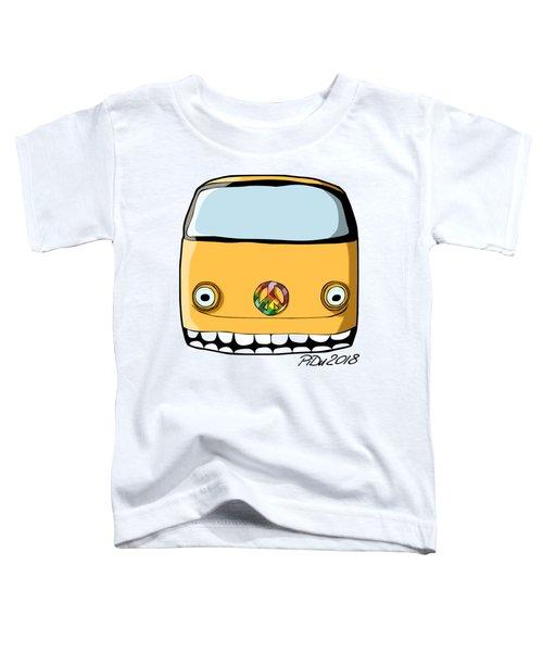 Crazy Retro Van Toddler T-Shirt