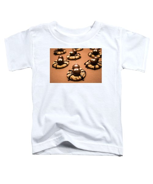 Creepy Crawly Spider Bites. Halloween Food Toddler T-Shirt