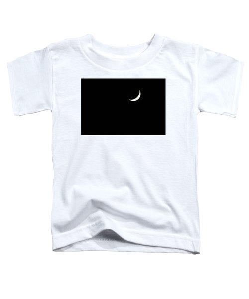 Toddler T-Shirt featuring the photograph Crescent Moon  by Alison Frank