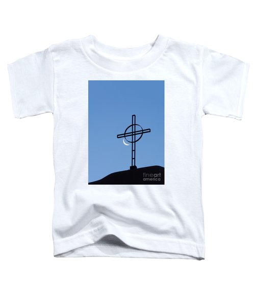 Crescent Moon And Cross Toddler T-Shirt