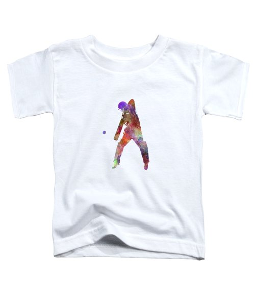 Cricket Player Batsman Silhouette 02 Toddler T-Shirt by Pablo Romero