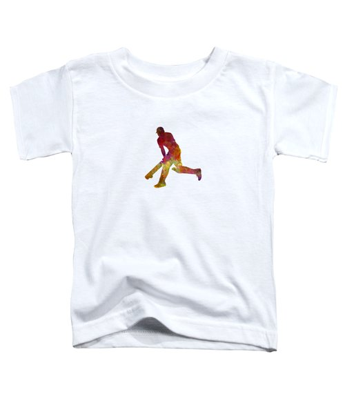 Cricket Player Batsman Silhouette 03 Toddler T-Shirt by Pablo Romero