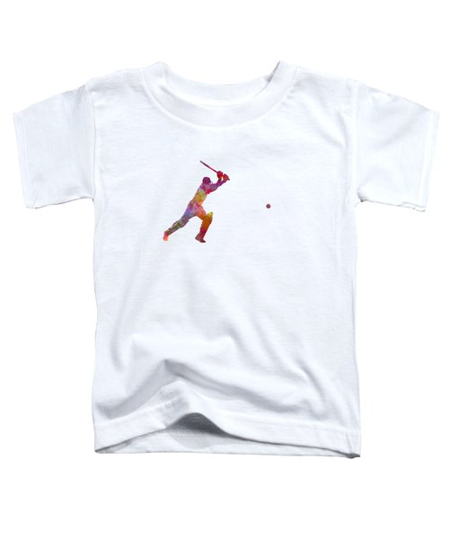 Cricket Player Batsman Silhouette 04 Toddler T-Shirt by Pablo Romero