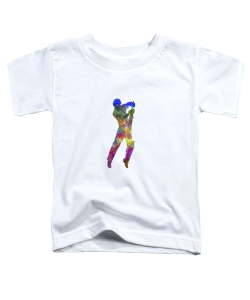 Cricket Player Batsman Silhouette 05 Toddler T-Shirt by Pablo Romero