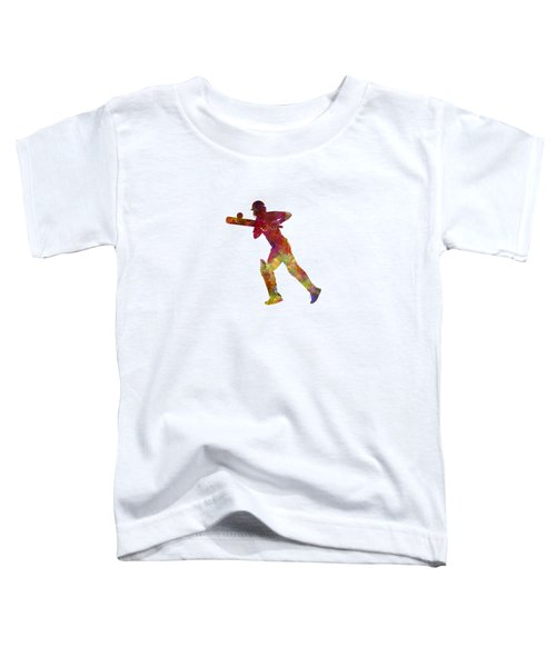 Cricket Player Batsman Silhouette 06 Toddler T-Shirt by Pablo Romero