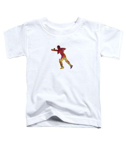 Cricket Player Batsman Silhouette 06 Toddler T-Shirt