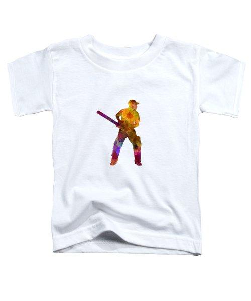 Cricket Player Batsman Silhouette 07 Toddler T-Shirt