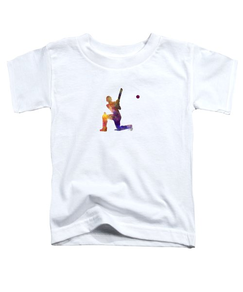 Cricket Player Batsman Silhouette 08 Toddler T-Shirt by Pablo Romero