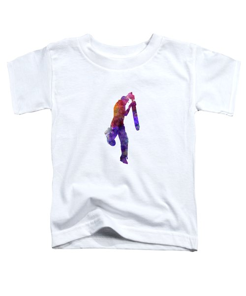 Cricket Player Batsman Silhouette 09 Toddler T-Shirt by Pablo Romero