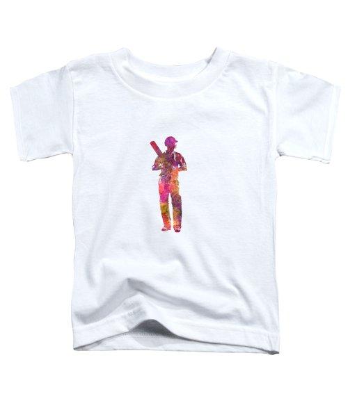 Cricket Player Batsman Silhouette 10 Toddler T-Shirt