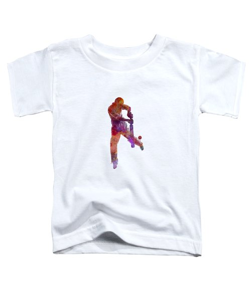 Cricket Player Batsman Silhoutte Toddler T-Shirt by Pablo Romero