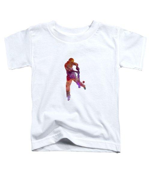 Cricket Player Batsman Silhoutte Toddler T-Shirt