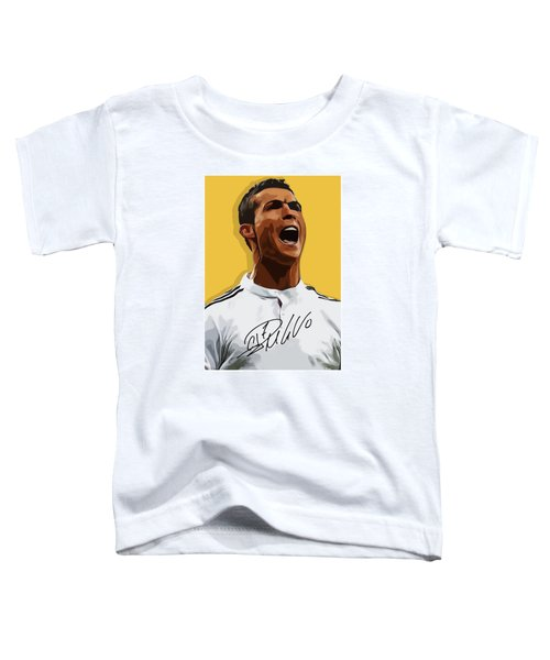 Cristiano Ronaldo Cr7 Toddler T-Shirt by Semih Yurdabak