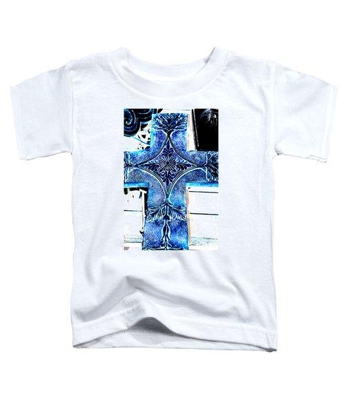 Cross In Blue Toddler T-Shirt
