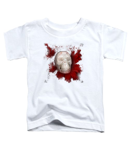 Crystal Skull With Red On Transparent Background Toddler T-Shirt