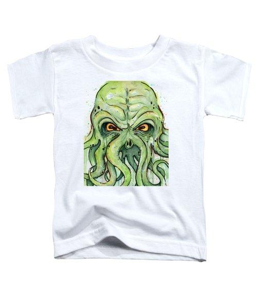 Cthulhu Watercolor Toddler T-Shirt