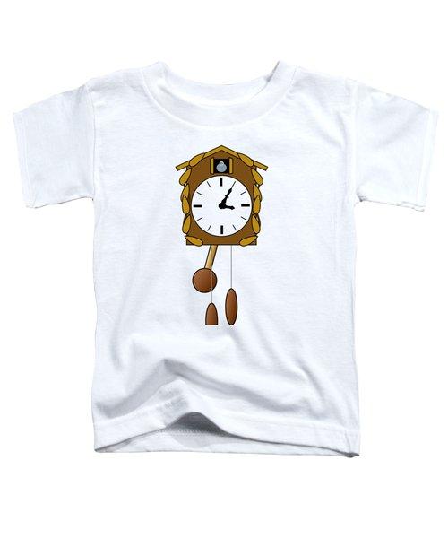 Cuckoo Clock Toddler T-Shirt by Miroslav Nemecek