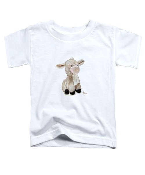 Cuddly Donkey Watercolor Toddler T-Shirt