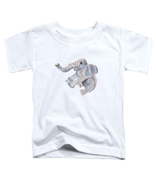 Cuddly Elephant IIi Toddler T-Shirt by Angeles M Pomata