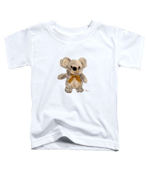 Cuddly Mouse Toddler T-Shirt by Angeles M Pomata