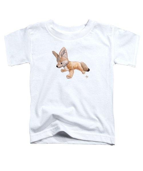 Cuddly Snow Fox Toddler T-Shirt by Angeles M Pomata