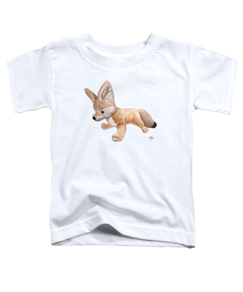 Cuddly Snow Fox Toddler T-Shirt