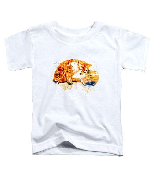 Curious Cat  Toddler T-Shirt