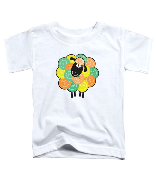 Curlier The Sheep Toddler T-Shirt by Natalie Kinnear